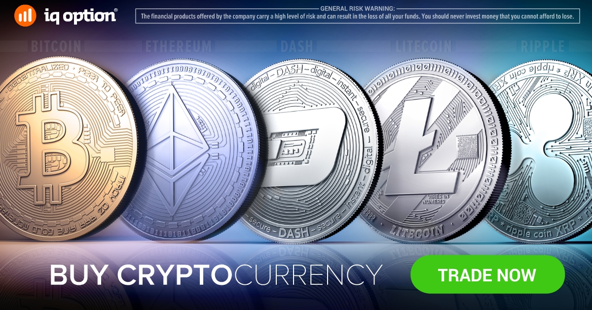 iqoption At IQ Option You Can Buy and Sell Cryptocurrency With a Bank Card in one click