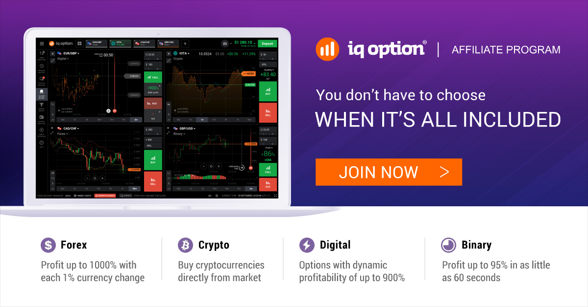 iq options affilié